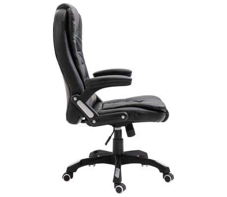 vidaXL Biuro kėdė, juoda, dirbtinė oda[4/10]