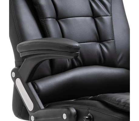 vidaXL Chaise de bureau Noir Similicuir[7/10]