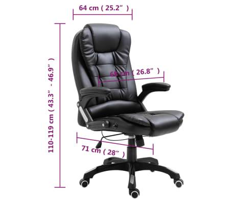 vidaXL Biuro kėdė, juoda, dirbtinė oda[10/10]