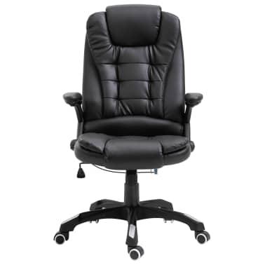 vidaXL Biuro kėdė, juoda, dirbtinė oda[2/10]