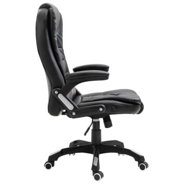 vidaXL Chaise de bureau Noir Similicuir[4/10]