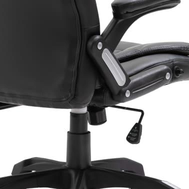 vidaXL Biuro kėdė, juoda, dirbtinė oda[6/10]