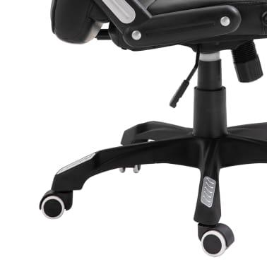 vidaXL Biuro kėdė, juoda, dirbtinė oda[8/10]