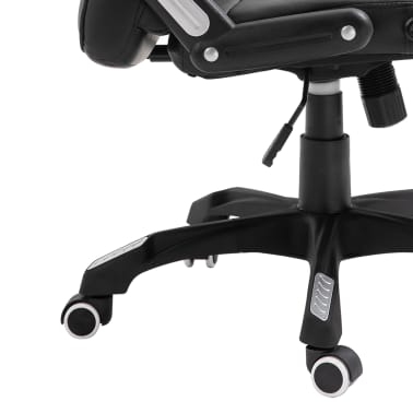 vidaXL Chaise de bureau Noir Similicuir[8/10]