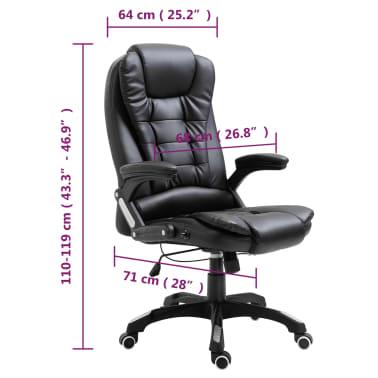vidaXL Chaise de bureau Noir Similicuir[10/10]