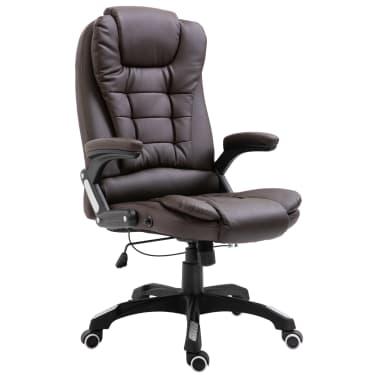 vidaXL Chaise de bureau Marron Similicuir[1/9]