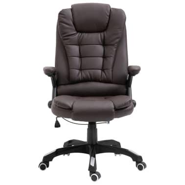 vidaXL Chaise de bureau Marron Similicuir[2/9]