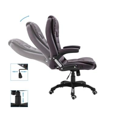 vidaXL Chaise de bureau Marron Similicuir[5/9]