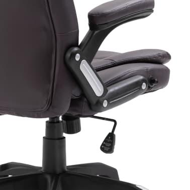 vidaXL Chaise de bureau Marron Similicuir[6/9]
