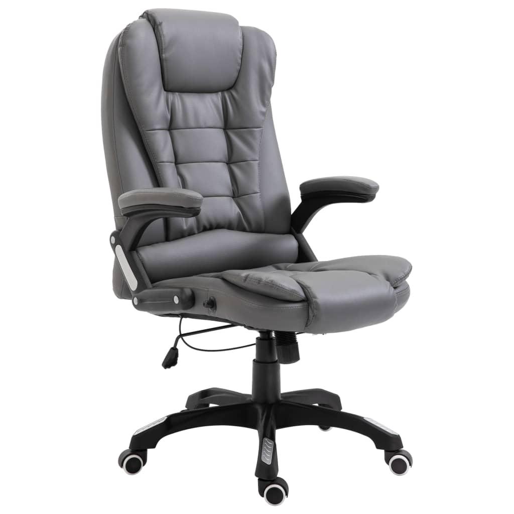 Kancelářská židle antracitová umělá kůže