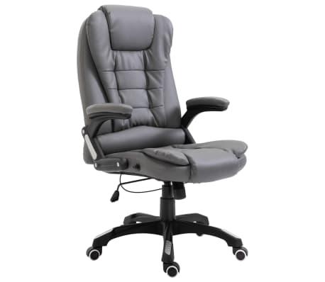 vidaXL Uredska stolica od umjetne kože antracit
