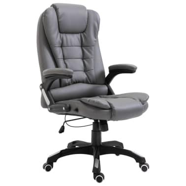 vidaXL Biuro kėdė, antracito spalvos, dirbtinė oda[1/9]