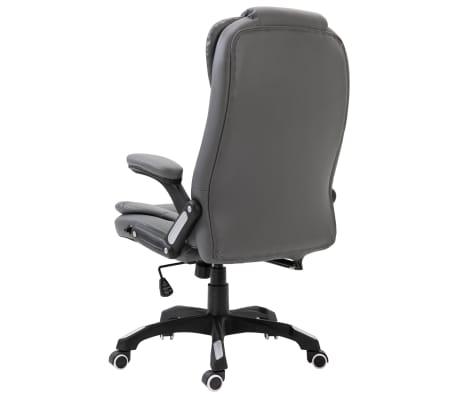 vidaXL Biuro kėdė, antracito spalvos, dirbtinė oda[3/9]