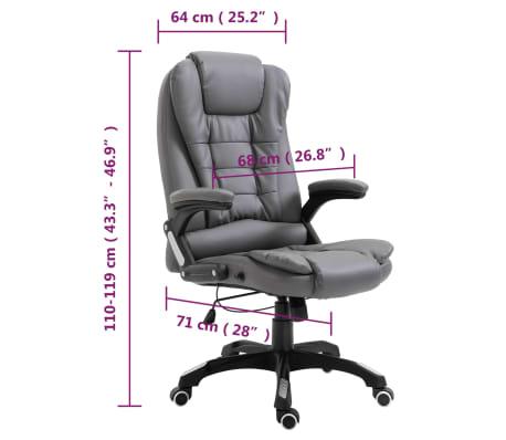 vidaXL Biuro kėdė, antracito spalvos, dirbtinė oda[9/9]
