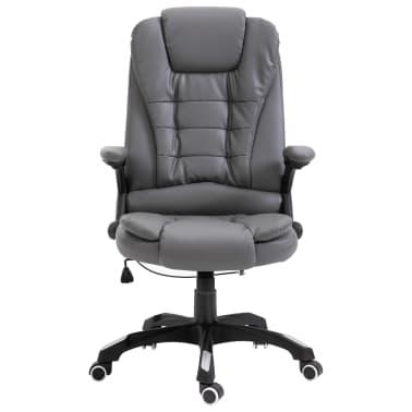 vidaXL Biuro kėdė, antracito spalvos, dirbtinė oda[2/9]