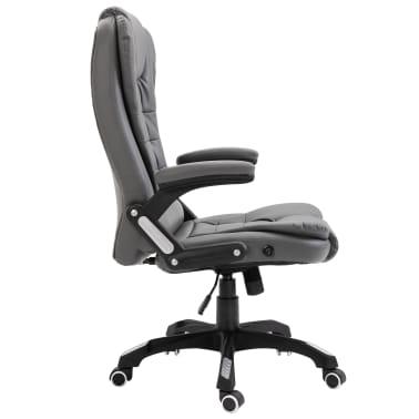 vidaXL Biuro kėdė, antracito spalvos, dirbtinė oda[4/9]