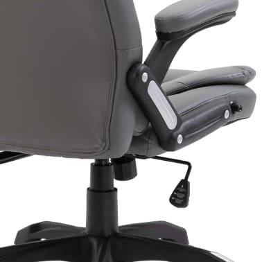 vidaXL Biuro kėdė, antracito spalvos, dirbtinė oda[6/9]