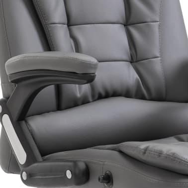 vidaXL Biuro kėdė, antracito spalvos, dirbtinė oda[7/9]