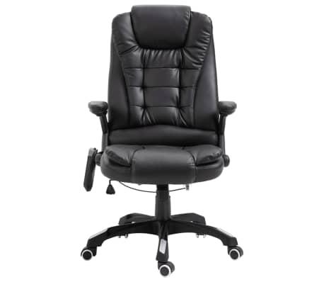 vidaXL Massage kantoorstoel kunstleer zwart[2/10]