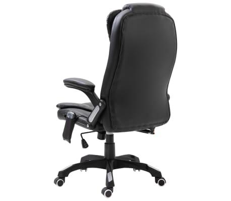 vidaXL Massage kantoorstoel kunstleer zwart[3/10]