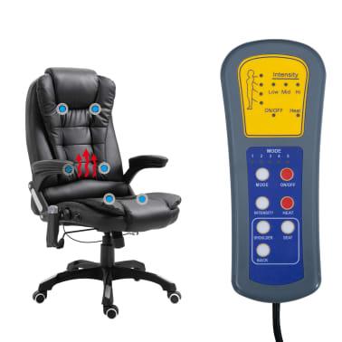 vidaXL Massage kantoorstoel kunstleer zwart[6/10]