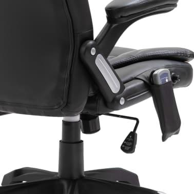 vidaXL Massage kantoorstoel kunstleer zwart[7/10]