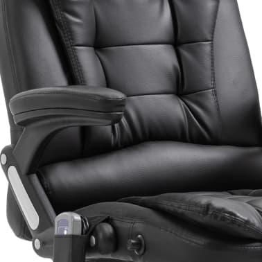 vidaXL Massage kantoorstoel kunstleer zwart[8/10]