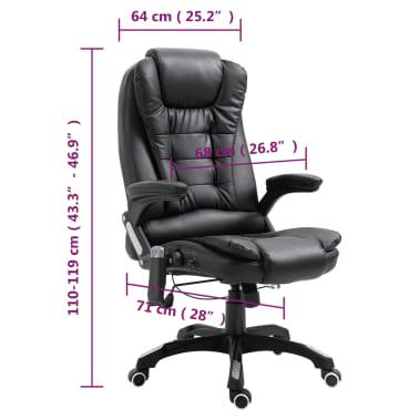 vidaXL Massage kantoorstoel kunstleer zwart[10/10]