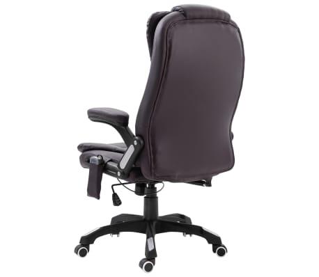 vidaXL Chaise de bureau de massage Marron Similicuir[3/11]