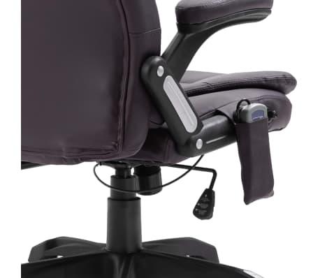 vidaXL Chaise de bureau de massage Marron Similicuir[8/11]