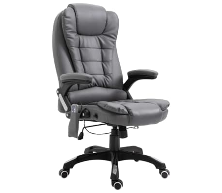 vidaXL Chaise de bureau de massage Anthracite Similicuir