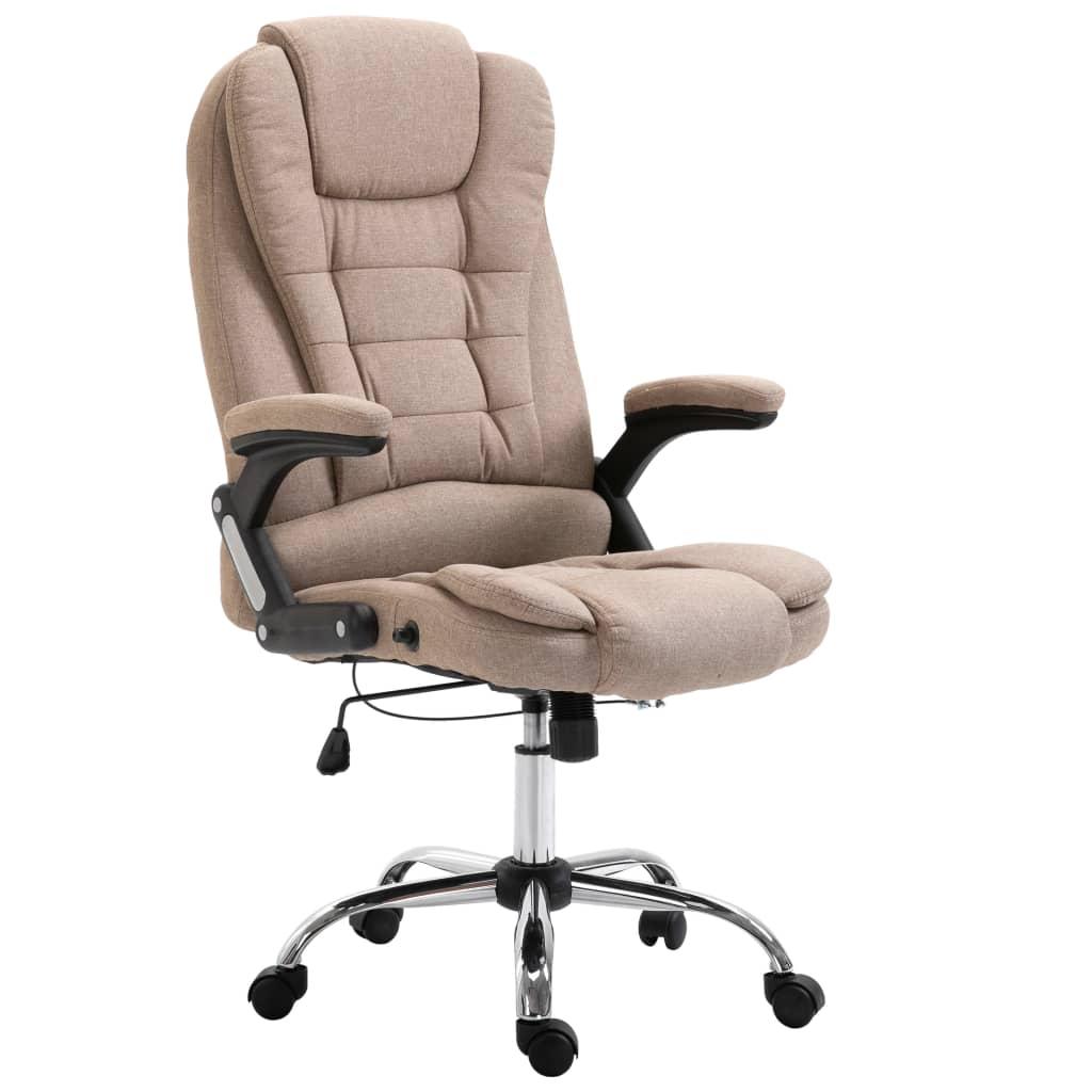 vidaXL Καρέκλα Γραφείου Χρώμα Taupe από Πολυεστέρα