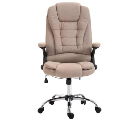 vidaXL Chaise de bureau Taupe Polyester[2/9]