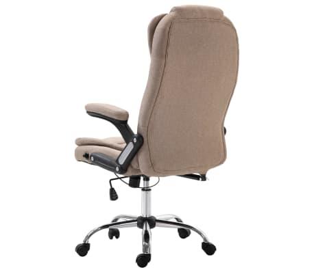 vidaXL Chaise de bureau Taupe Polyester[3/9]