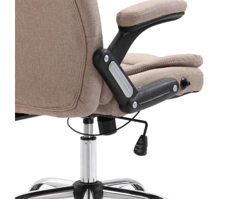 vidaXL Chaise de bureau Taupe Polyester[6/9]