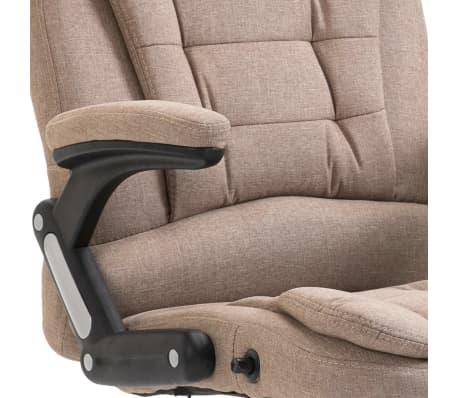 vidaXL Chaise de bureau Taupe Polyester[7/9]