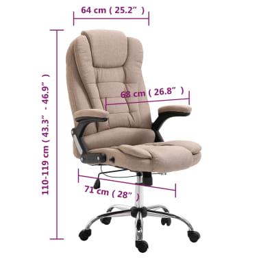 vidaXL Chaise de bureau Taupe Polyester[9/9]