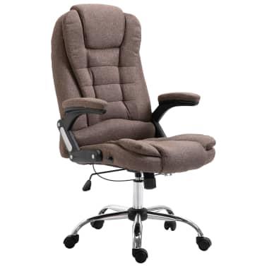 vidaXL Chaise de bureau Marron Polyester[1/9]