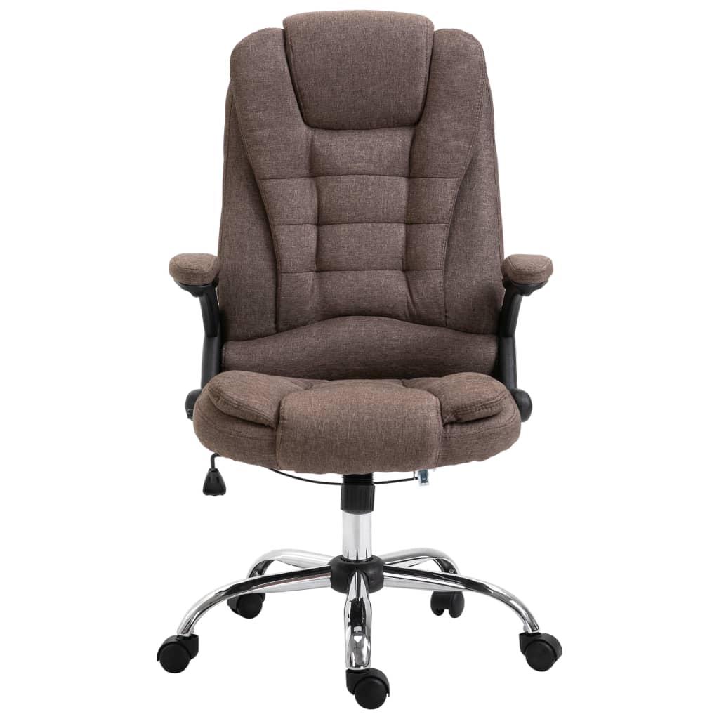 Kancelářská židle hnědá polyester