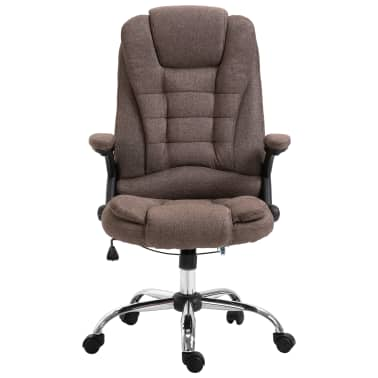vidaXL Chaise de bureau Marron Polyester[2/9]