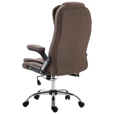vidaXL Chaise de bureau Marron Polyester[3/9]