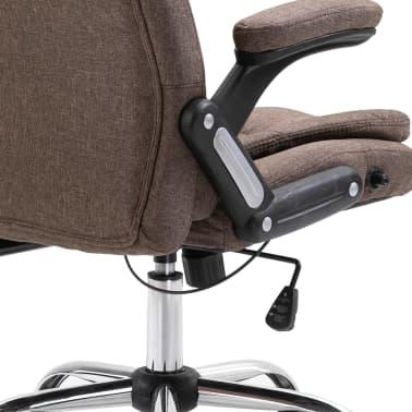 vidaXL Chaise de bureau Marron Polyester[6/9]