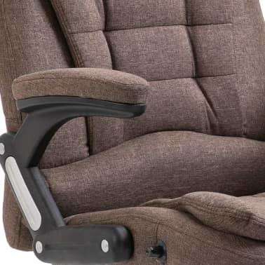 vidaXL Chaise de bureau Marron Polyester[7/9]