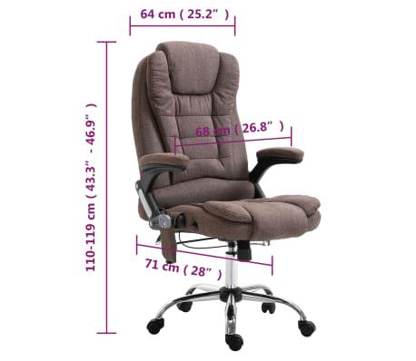 vidaXL Chaise de bureau de massage Marron Polyester[10/10]