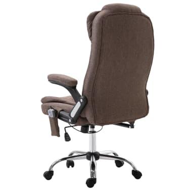 vidaXL Chaise de bureau de massage Marron Polyester[3/10]