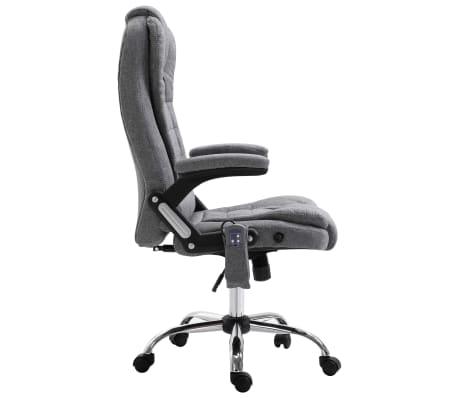vidaXL Masažinė biuro kėdė, pilka, poliesteris[4/11]