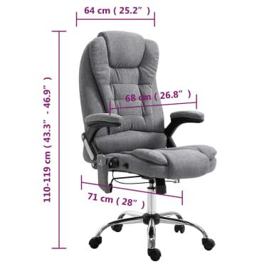vidaXL Masažinė biuro kėdė, pilka, poliesteris[11/11]