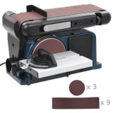 vidaXL Elektrinis juostinis/diskinis šlifuoklis, 370 W, 150 mm