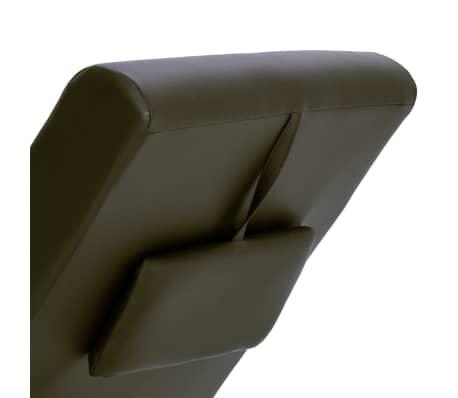 vidaXL Poilsio gultas su pagalve, rudas, dirbtinė oda[6/10]