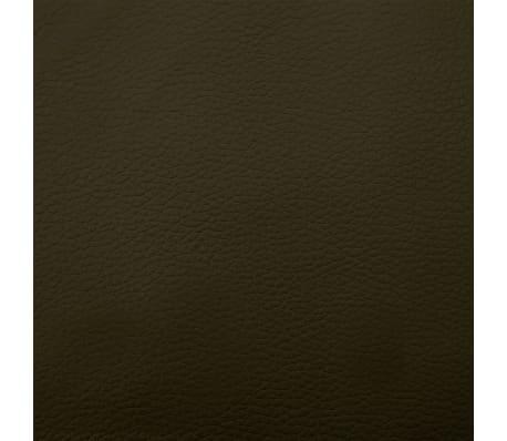 vidaXL Poilsio gultas su pagalve, rudas, dirbtinė oda[9/10]